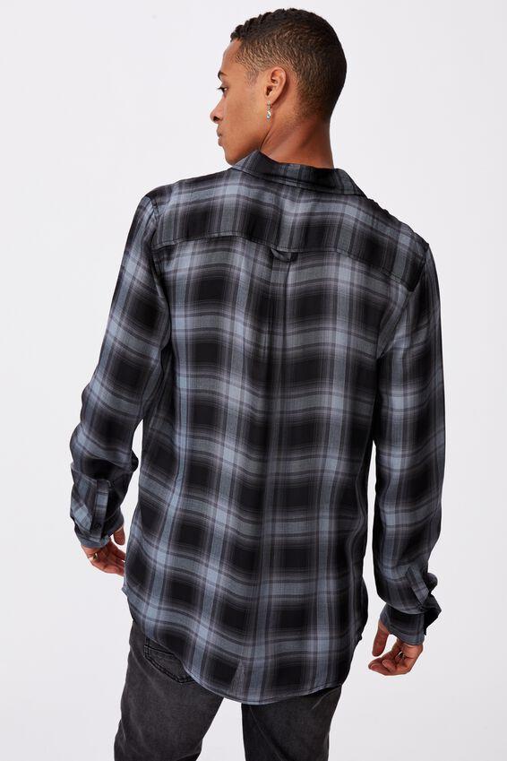 Premium Check Shirt, NAVY BLACK OMBRE