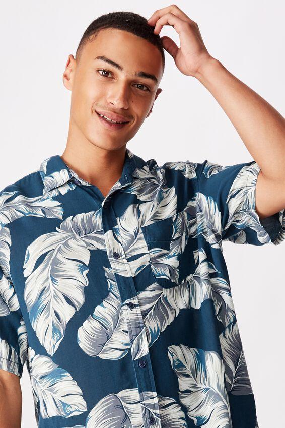 Short Sleeve Resort Shirt, INDO FLORAL