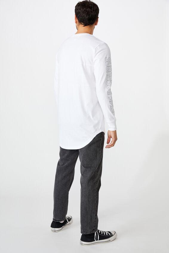 Long Sleeve Curved Hem, WHITE/UNDERGRXND STRIKE