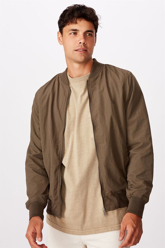 Resort Bomber Jacket, TEXTURED KHAKI