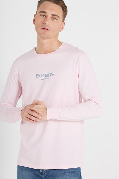 Tbar Long Sleeve, PRIME PINK/HOMMES NYC