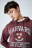 Premium Collab Fleece Pullover, LCN AGED WINE/HARVARD CREST