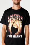 Tbar Collab Pop Culture T-Shirt, LCN WWE SK8 BLACK/WWE - ANDRE THE GIANT
