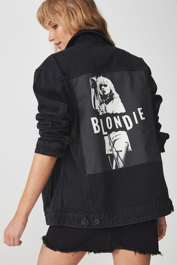 Blondie Denim Jacket, BLONDIE/BLACK
