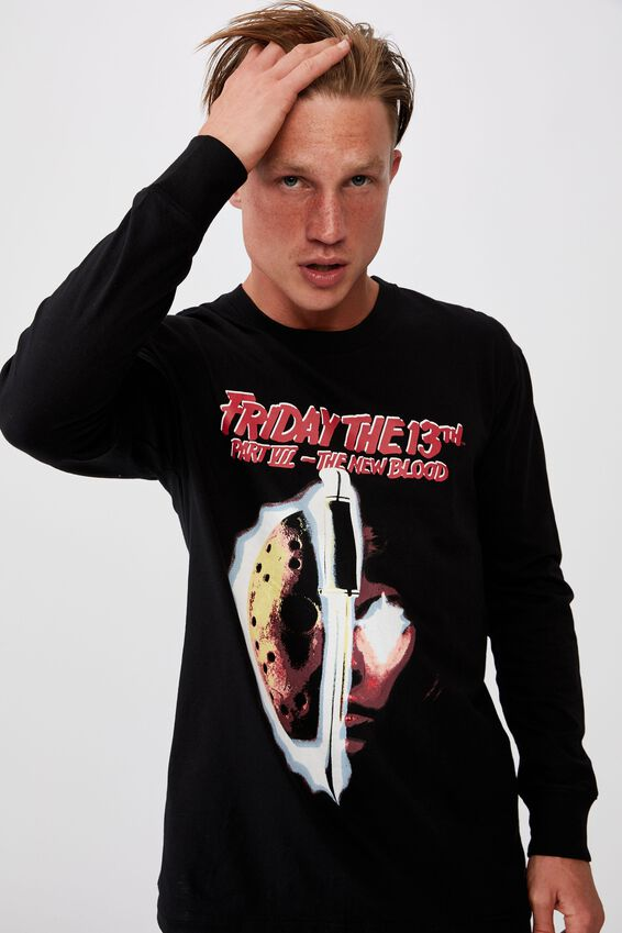 Tbar Collab Ls Tee, LCN WB BLACK/FRIDAY THE 13TH - PART VII