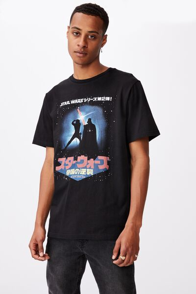 Tbar Collab Movie And Tv T-Shirt, LCN DIS BLACK/STAR WARS-DUEL