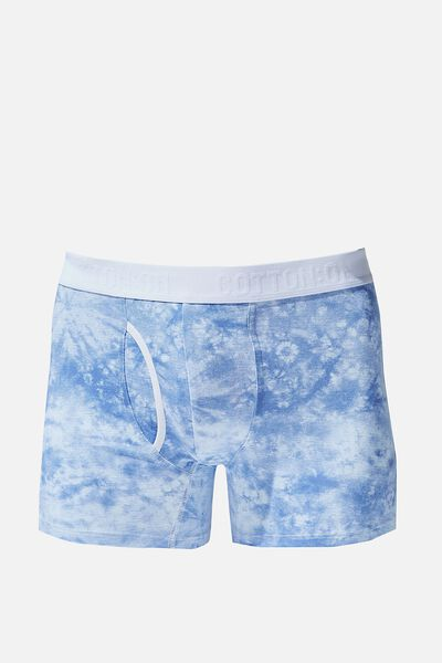 Mens Organic Cotton Trunks, BLUE/WHITE/TIE DYE
