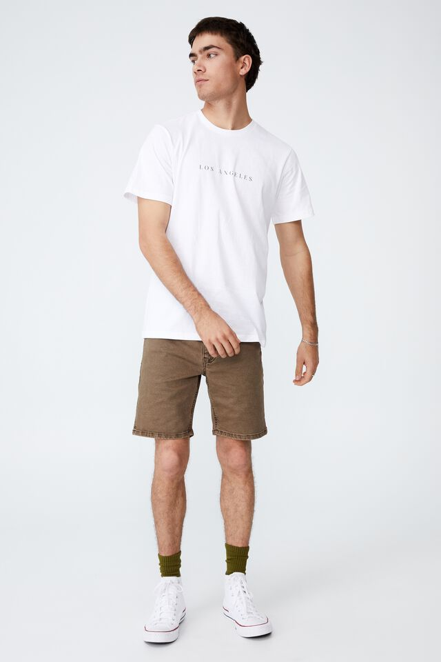 Tbar Text T-Shirt, WHITE/LOS ANGELES SPACED