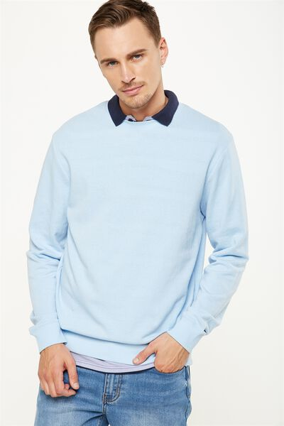 Summer Crew Fleece, BLUE MIST
