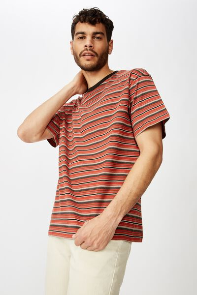 Dylan Tee, BRUSCHETTA RED/WASHED BLACK/CHOCOLATE BROWN/PEARL/