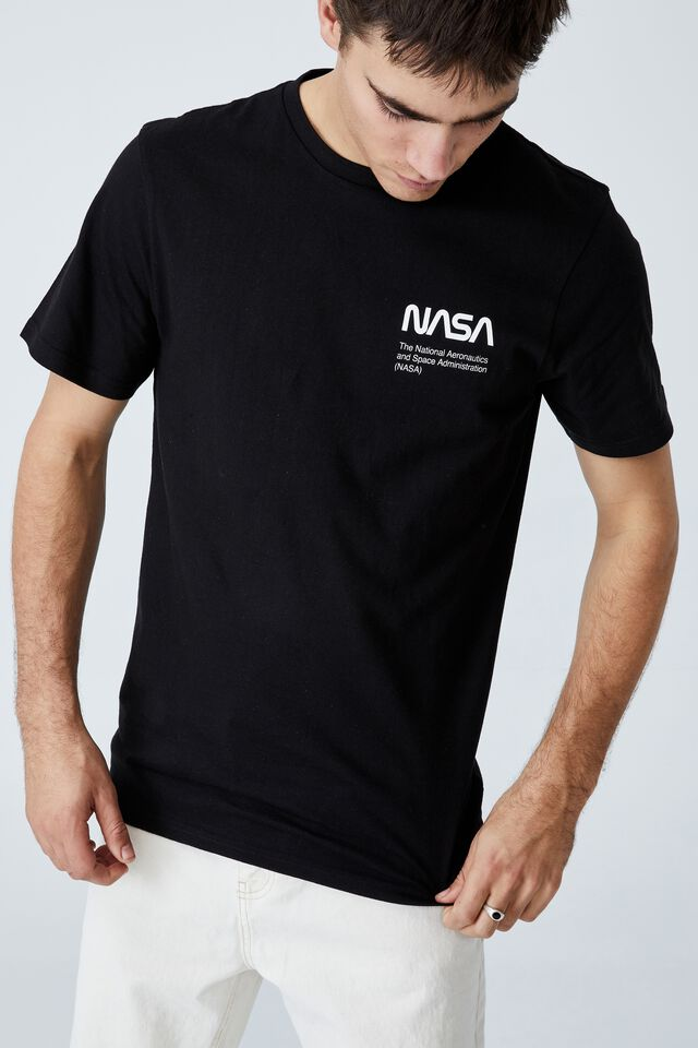 Tbar Collab Pop Culture T-Shirt, LCN NAS BLACK/NASA - DIAGRAMS