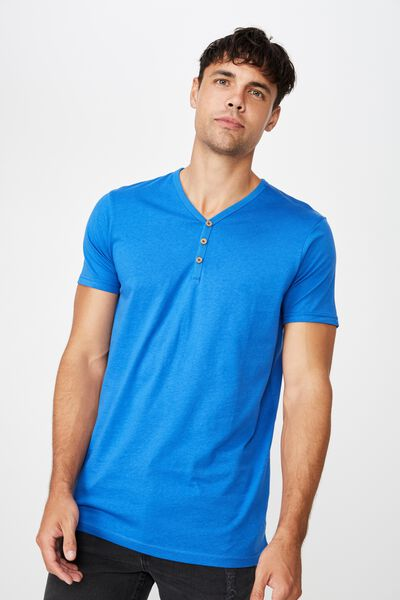 Essential Henley, ELECTRIC BLUE