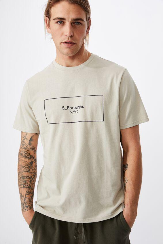 Tbar Street T-Shirt, SMOKE/5_BOROUGHS BOXED