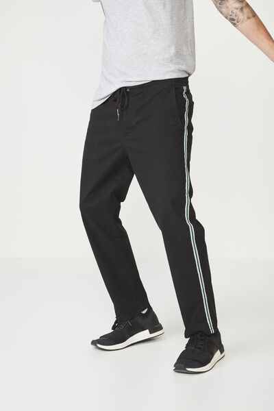Drake Roller Pant, BLACK SIDE STRIPE