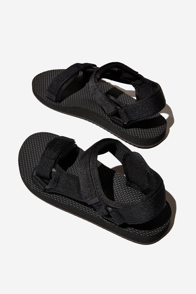 Mens Strap Sandal, BLACK