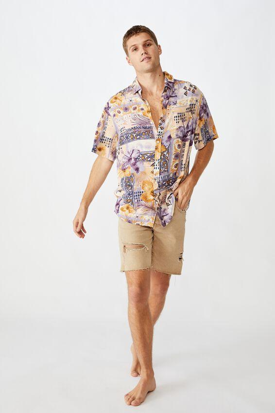 Vacation Short Sleeve Shirt, DECO HIBICUS
