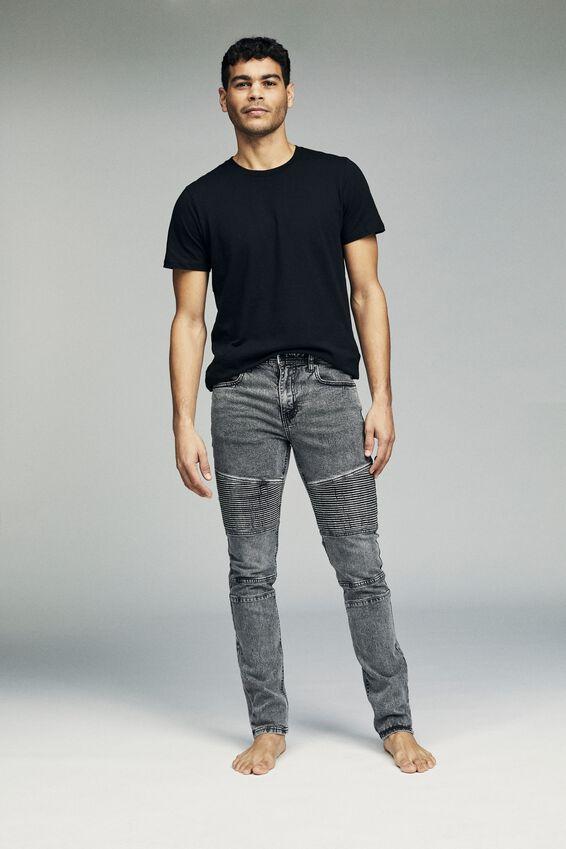 Slim Fit Jean, VINTAGE GREY MOTO
