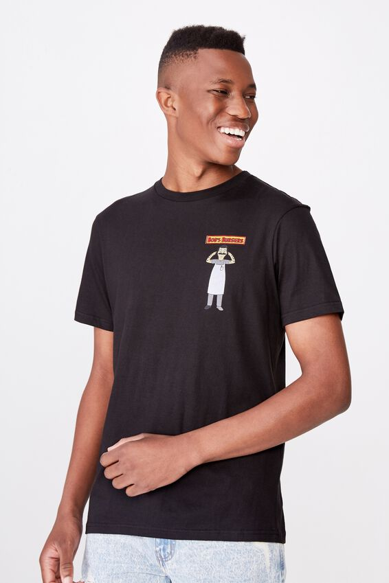 Tbar Collab Movie And Tv T-Shirt, LCN FOX BLACK/BOBS BURGERS - OPEN BURGER