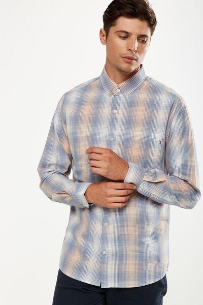 Brunswick Shirt 3, BLUE SHADOW CHECK