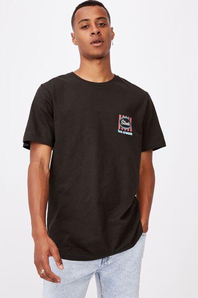 Tbar Collab Pop Culture T-Shirt, LCN STR WASHED BLACK/STREETS-VINTAGE LOGO