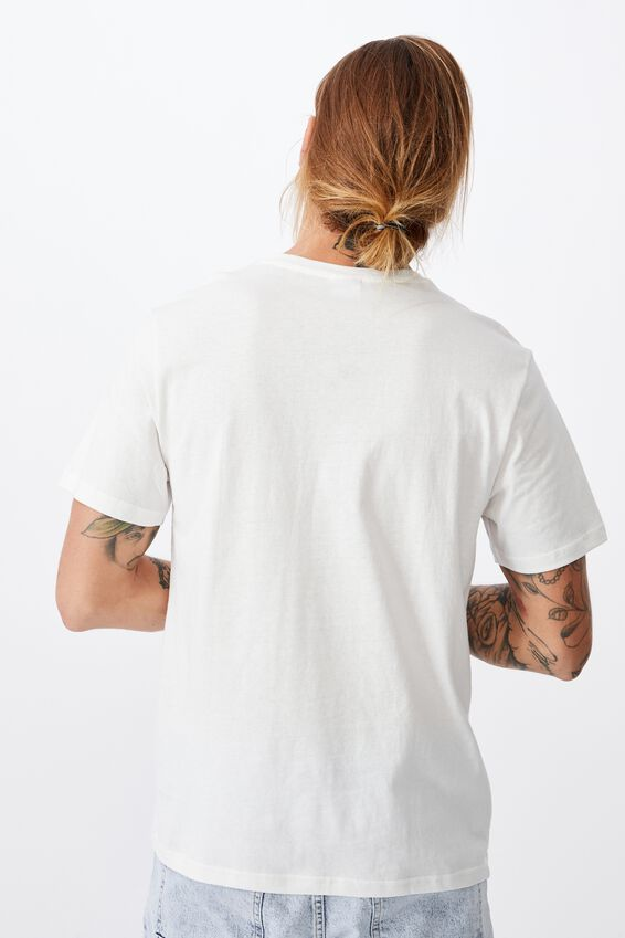 Tbar Text T-Shirt, VINTAGE WHITE/PERMANENT PARADISE