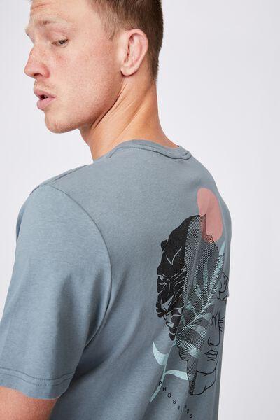 Tbar Art T-Shirt, SMOKEY TEAL/MORPHOSIS MINDS