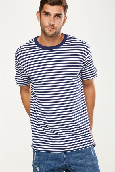 Dylan Tee, NAVY/WHITE STRIPE
