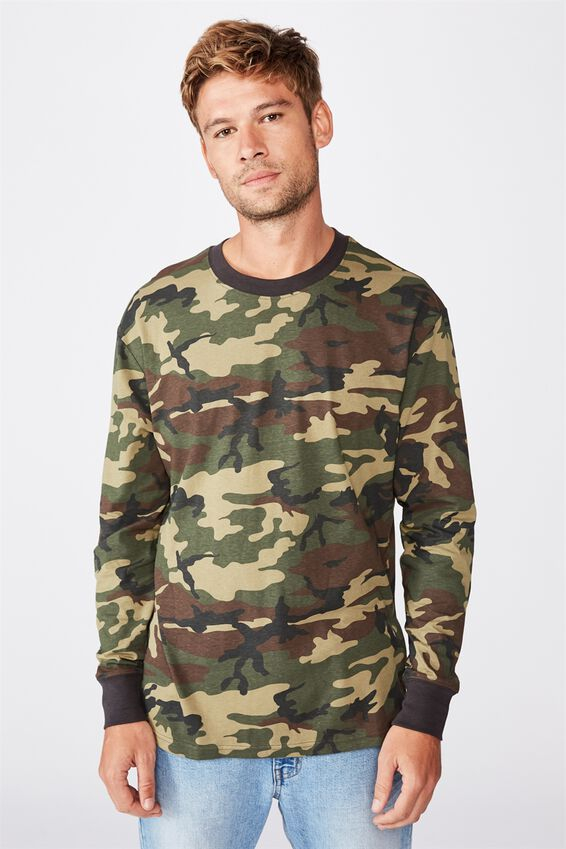 Tbar Long Sleeve T-Shirt, ARMY CAMO