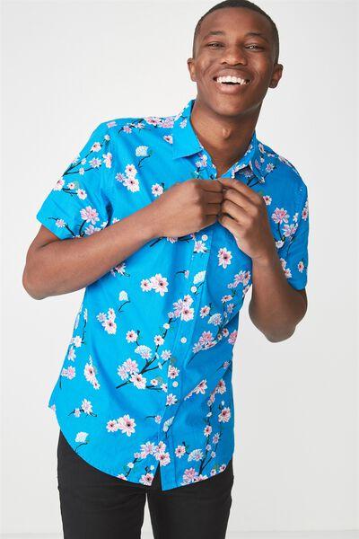 Vintage Prep Short Sleeve Shirt, LOTUS FLORAL
