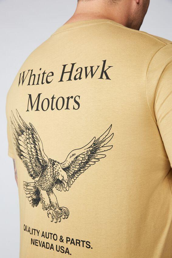 Tbar Tee, CAMEL/WHITE HAWK MOTORS