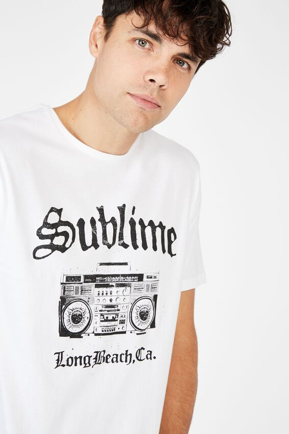 Scooped Lounge Tee, LCN LN WHITE/SUBLIME