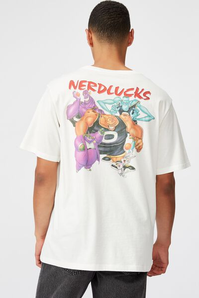 Tbar Collab Movie And Tv T-Shirt, LCN WB VINTAGE WHITE SPACE JAM - NERDLUCKS