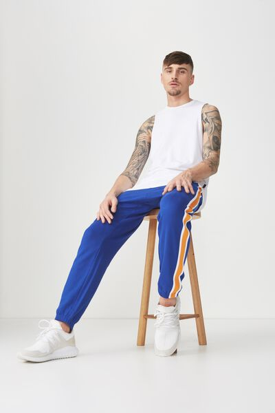 Classic Track Jogger, ROYAL BLUE/RIBBED TAPE