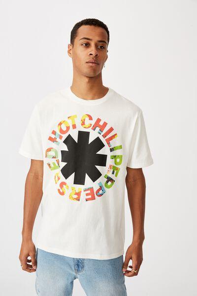 Tbar Collab Music T-Shirt, LCN PRO WHITE/RHCP - TIE DYE LOGO