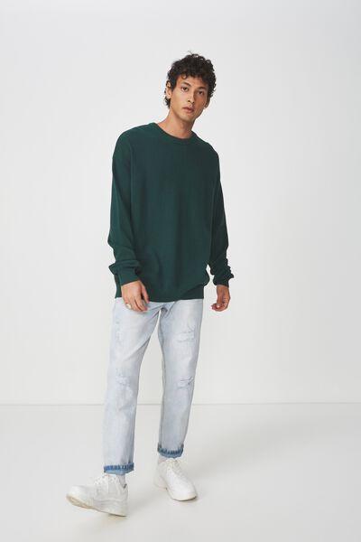 Lightweight Crew Sweater, GREEN