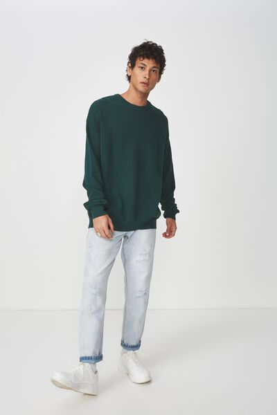 Lightweight Crew Sweater, GREEN