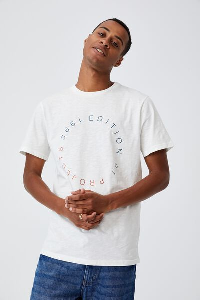 Tbar Text T-Shirt, VINTAGE WHITE/1992 EDITION