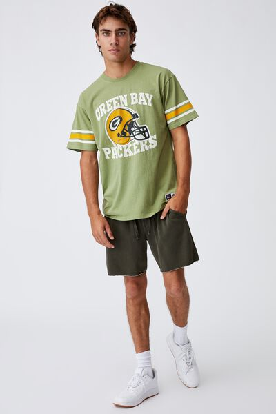Active Collab Oversized T-Shirt, LCN NFL GRASS GREEN/NFL - GREEN BAY PACKERS V
