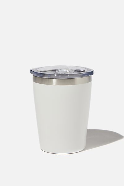 Small Stainless Steel Tumbler, WHITE