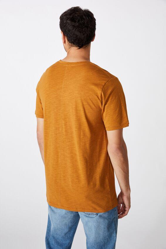Slub Crew T-Shirt, RICH CAMEL