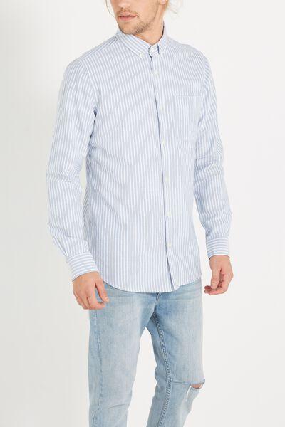 Brunswick Shirt 3, LIGHT BLUE BOLD STRIPE
