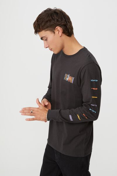 Tbar Collab Long Sleeve T-Shirt, LCN WB WASHED BLACK/SPACE JAM 2 TUNE SQUAD