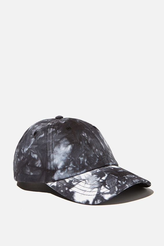 Tie Dye Dad Hat, BLACK/WHITE/TIE DYE