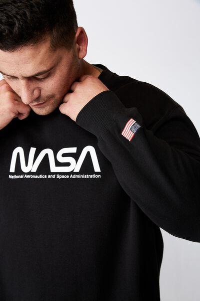 Bg Collab Crew Fleece, LCN BLACK/NASA WORM
