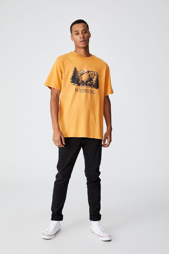 Bondi T-Shirt, BUCKSKIN GOLD/GRIZZLY BEAR