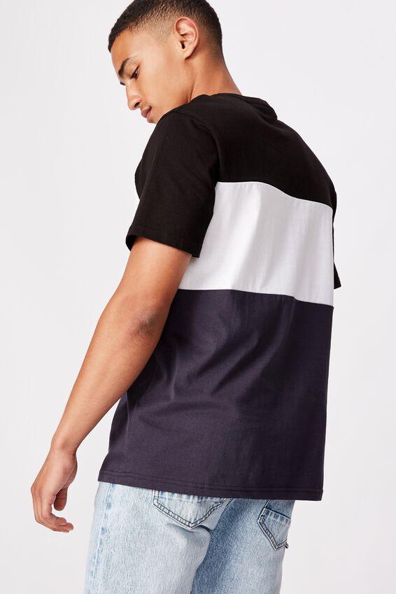 Tbar Urban T-Shirt, BLACK/WHITE/TRUE NAVY/BOROUGHS FLAG