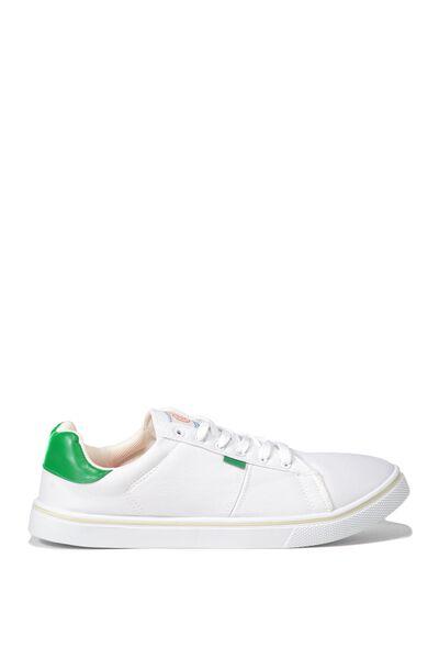 Cross Court Sneaker, WHITE