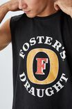 Fosters Muscle, LCN FOS WASHED BLACK/FOSTERS - LOGO
