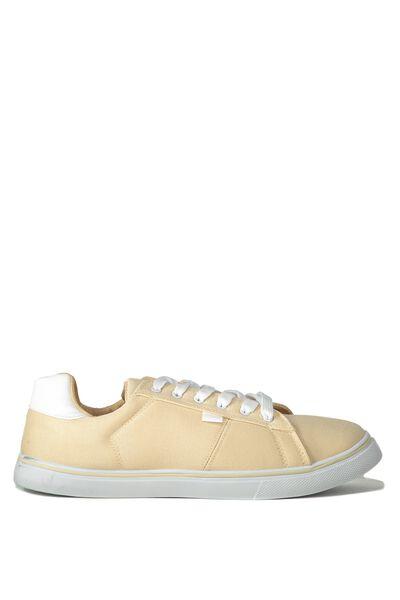 Cross Court Sneaker, TAN/WHITE