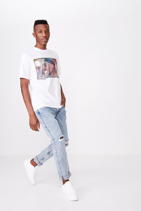 Tbar Collab Movie And Tv T-Shirt, LCN SO SK8 WHITE/POETIC JUSTICE - LIFE